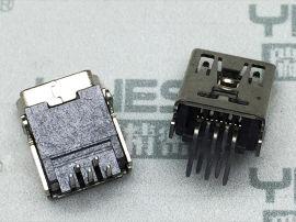 514-MINI USB连接器 母座双排90度