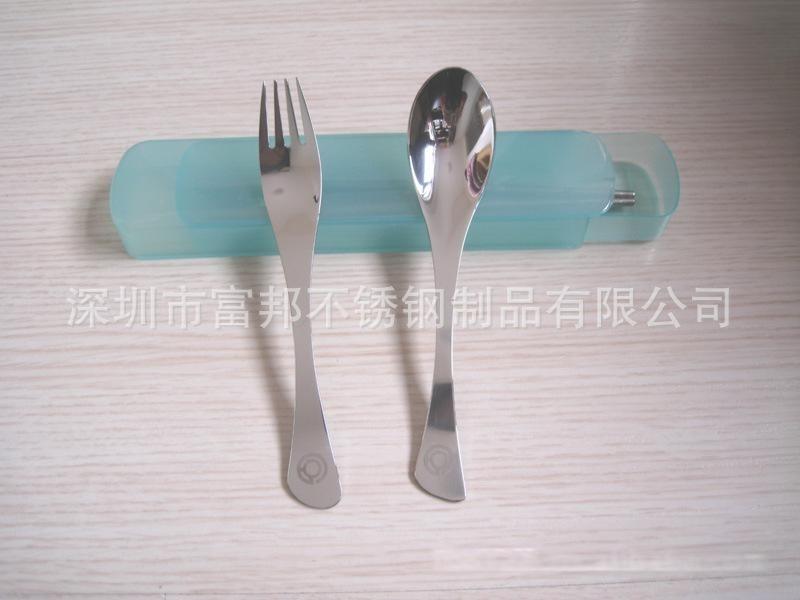 抽屉式塑料盒高档鱼尾勺叉旅行餐具勺叉筷三件套