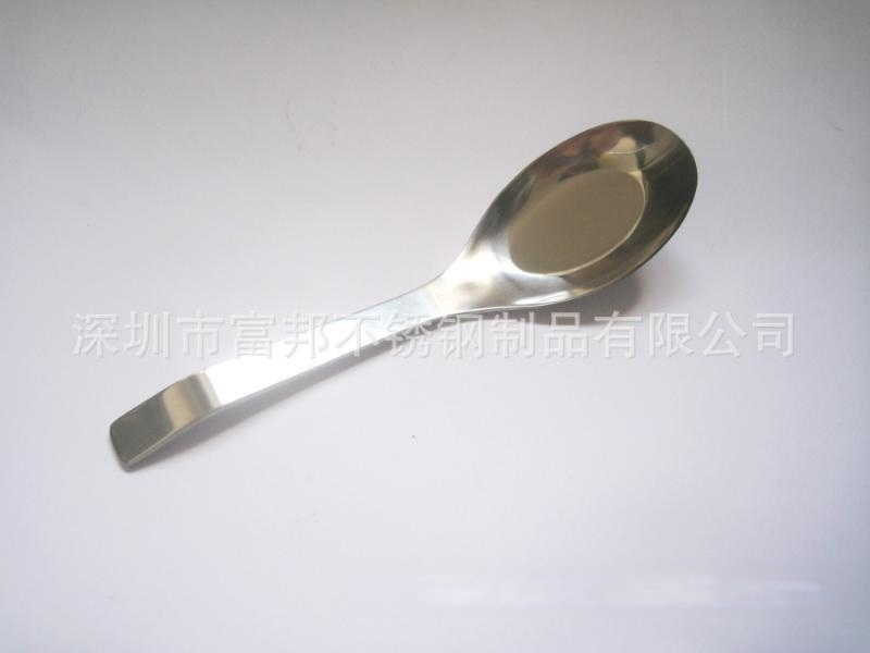 不锈钢弯尾平底勺,不锈钢平底勺可定制企业LOGO