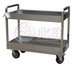 酒店用餐车 304不锈钢手推车 双层小推车