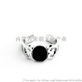 內蒙特色銀飾戒指925銀材質