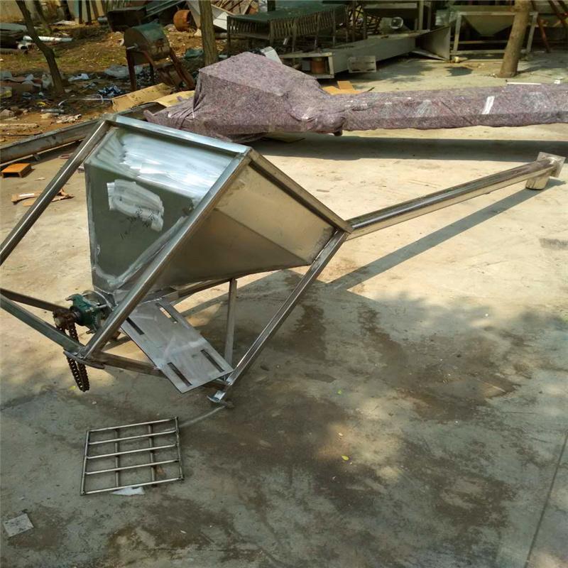全不锈钢颗粒上料用5米长移动式绞龙提升机Lj8