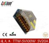 正品通天王5V20A开关电源 100W变压器 5V稳压电源 质保三年