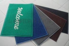 订做**常规PVC喷丝酒店欢迎光临防滑地毯浴室防滑地垫
