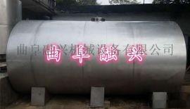 沧州基 储 罐 卧式不锈钢罐加工定做