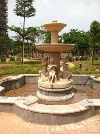 厂家定制大型景观喷泉雕塑 供应楼盘景观小品玻璃钢雕塑