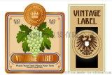 蓬莱瓶装葡萄酒不干胶标签桶装葡萄酒饮料不干胶标签食品标签印刷