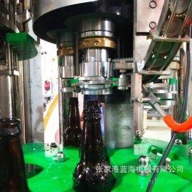 全自动啤酒灌装机玻璃瓶啤酒灌装生产线小型精酿啤酒灌装设备厂家