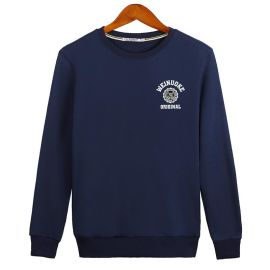 男士新款秋冬装韩版圆领套头卫衣加绒宽松大码外套团体工作服订做