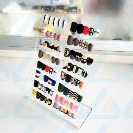 厂家定制指甲片展板亚克力美甲成品样板日本强磁美甲作品展示板