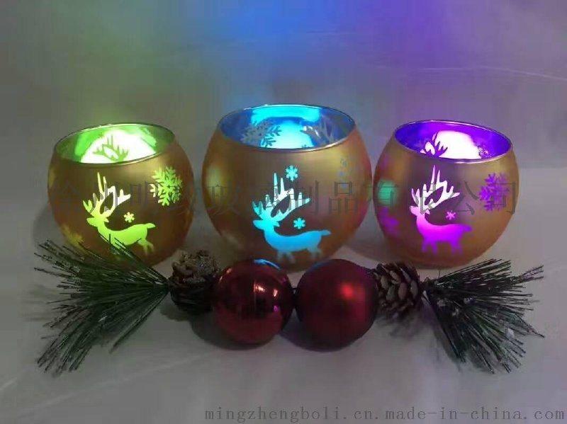 玻璃花瓶生产厂家 圣诞玻璃灯具 定制加工