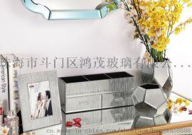 鸿茂玻璃厂家定制玻璃家居饰品软装饰品桌面摆件