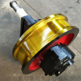 可定制起重机铸钢车轮组 地平车轨道轮