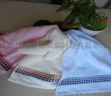 廠家漸變格提緞繡花純棉毛巾 勞保禮品全棉面巾