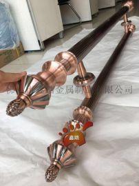 环保红古铜不锈钢直纹管大门拉手美观大方