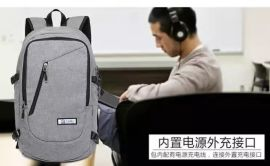 新款双肩背包 商务旅行电脑包 休闲男女学生包