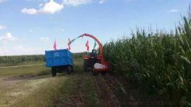 大型秸杆回收机格 回收机报价 四轮车带棉杆粉碎机