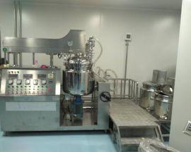供应100L液压升降真空乳化锅 化妆品生产乳化机