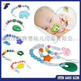 厂家直销韩版儿童diy项链时尚彩色圆珠子项链 婴儿出牙磨牙项链