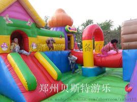 河南郑州充气城堡蹦床贝斯特制造高质量高收益
