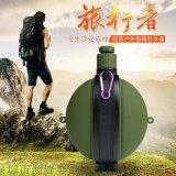 外贸创意新品儿童保温水壶跑步健身运动便携式水杯硅胶伸缩水壶