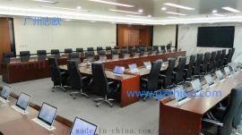 无纸化会议  高清液晶屏双信号可  切换升降会议桌