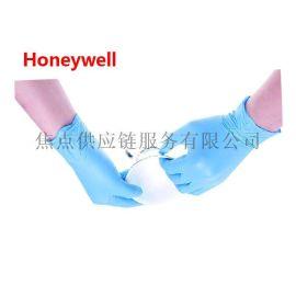 霍尼韋爾 一次性藍色丁腈手套 耐油耐酸耐磨手套 50付/盒 S/M/L號