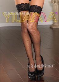 依莲娜正品时尚中小网眼弹力蕾丝花边长统网袜