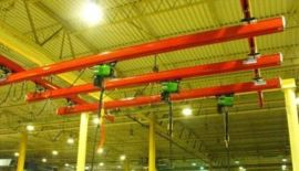 厂家供应 单梁轨道式龙门吊1吨 KBK移动式龙门吊