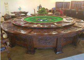 专业供应酒店家具酒店电动餐桌、 实木大圆桌