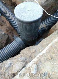 山东HDPE双壁波纹管 中空壁缠绕管 塑料检查井