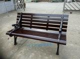 公园椅子园林椅景区户外长椅铸铁防腐木靠背椅