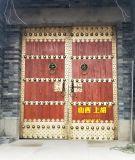 延长县中式古建别墅大门安装完成