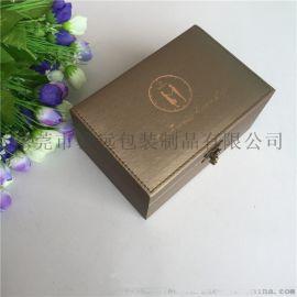 手表皮盒情侣套装表盒多支装腕表包装盒翻盖表盒定制