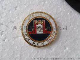 西安徽章定制 陕西合金徽章  黄铜合金奖章徽章