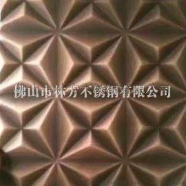 厂家直销304不锈钢压花板 镀铜不锈钢花纹板加工