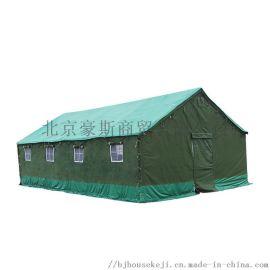 京诚豪斯施工帐篷3*4工地工程帐篷救灾三层帐加厚帆布棉帐篷