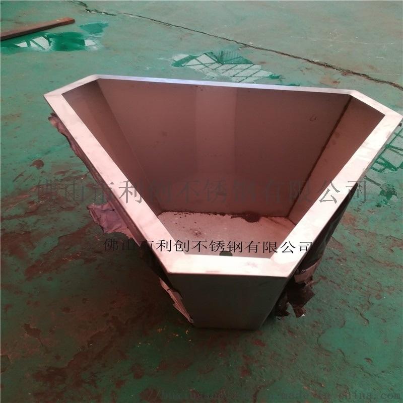 不锈钢异形花盆定制玫瑰金多边形花箱