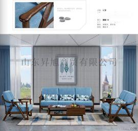 客厅北欧家具,北欧实木沙发茶几组合,