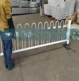 蓝白锌钢护栏 围墙围栏金属栅栏厂房厂区防盗栏 厂家直销