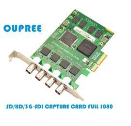 欧柏锐品牌SD/HD/3G-SDI4路采集卡1080p摄像采集存储录像卡