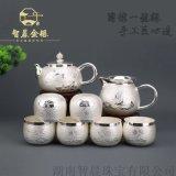 S999银茶具 纯银烧水泡茶壶套组厂家直批
