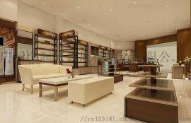 广州融润展柜定制不锈钢商场中岛高端化妆品展示柜