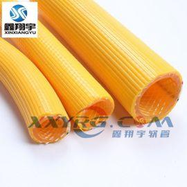 鑫翔宇 三层纤维增强耐高压软管/空压机软管/PVC黄色压力胶管