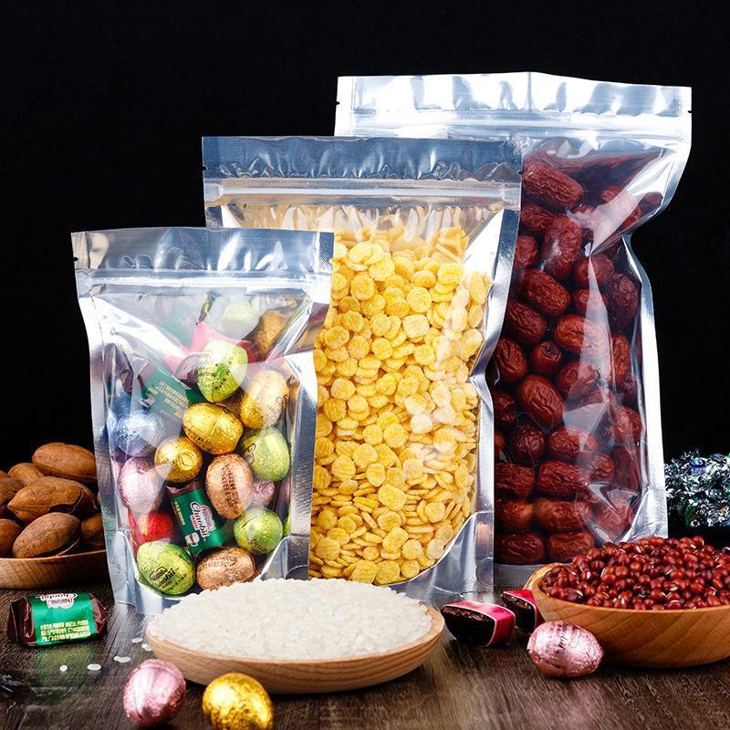 陰陽鍍鋁袋自立茶葉定做袋魚餌狗糧密封拉鍊袋代餐粉食品包裝袋