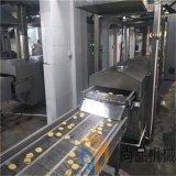电加热藕合大型油炸生产线 自动控温全自动茄盒油炸机