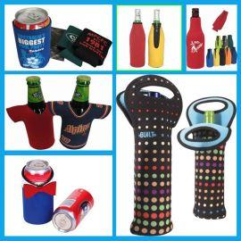 定制340ml热转印杯套瓶套, 啤酒红酒瓶套酒袋 ,潜水料瓶套