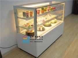 直角蛋糕保鲜柜,钢化玻璃蛋糕柜,定做蛋糕展示柜