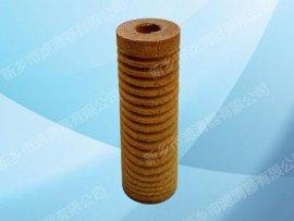 新乡市滤清器有限公司厂家供应木质压槽细纤维烧结滤芯