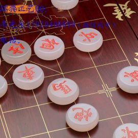广州水晶象棋厂家,汉白玉象棋定做,木质象棋制作象棋礼品